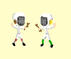 Stick fight! :D