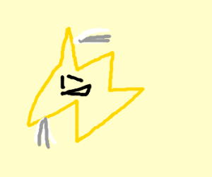 A yellow 5 pointed figure can fly.