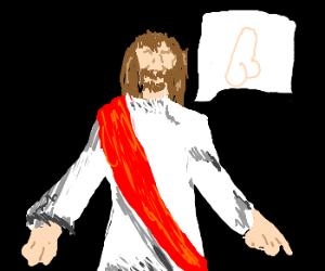 Obscene jokes told by the Messiah