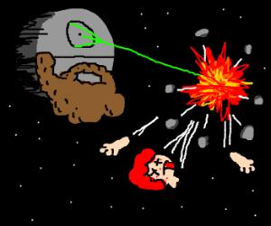 unshaven death star disintegrates ginger