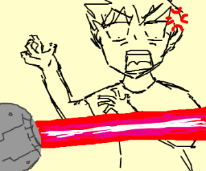 Anime Man Suprised By Lazers