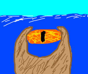 the eye of sauron under the sea