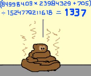 Pile O'Shit is pretty good at math