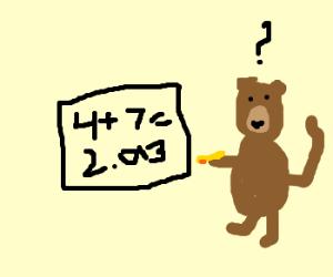 Monkey doing math equation