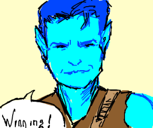 Charlie Sheen as Blue Elf WINNING