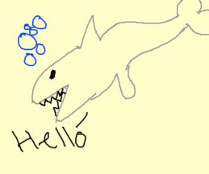 Shark hybrid drawing - photo#16