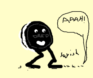 mighty oreo cookie smashes ants