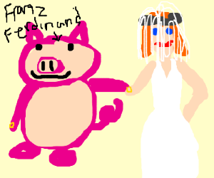 Franz Ferdinand as a Pig with his Wife