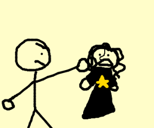 stick man punching a jew? D: