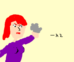 Red-haired woman hates double negatives