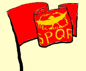 """The Senate & People of Rome"" Flag"