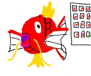 Panel 12! Draw Magikarp!!