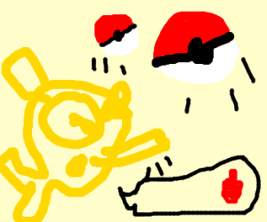 magikarp ketchum throws pokeballs