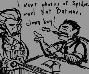 J. Jonah Jameson scolds the Joker