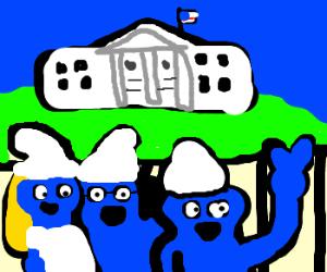 Smurfs visit the White House