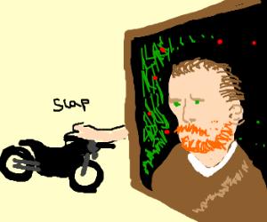 Van Gogh Painting bitch slaps Boy Lo?