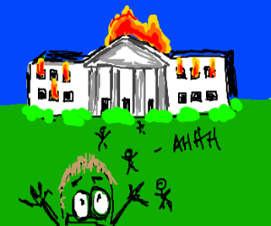 how to draw house on fire