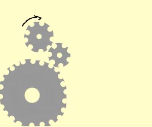 connected gearwheels