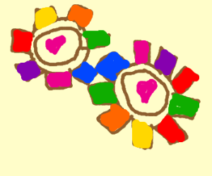 the gears of love in a rainbow