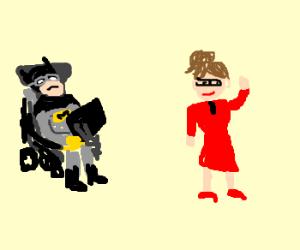Steven Hawking as batman, stalks S.Palin