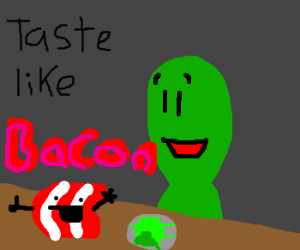 bacon flavored alien food