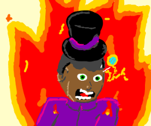 Tophat Tyrone introduces himself to fire