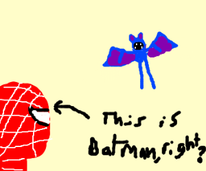 Batman tries to catch a zubat
