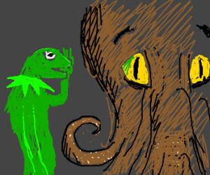 Kermit tells Kthulu a secret
