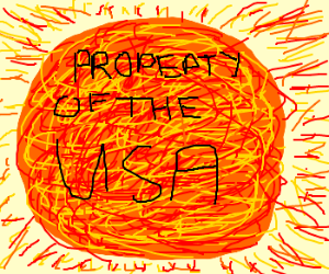 The sun belongs to the United States.