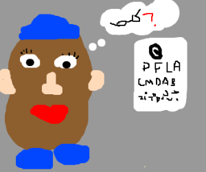 Potato Head Concerned w/Vision