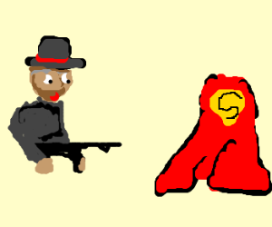 Mobster is appalled by Superman's cape