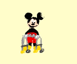 Half micky mouse half old man