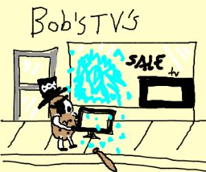 Potato pirate takes television