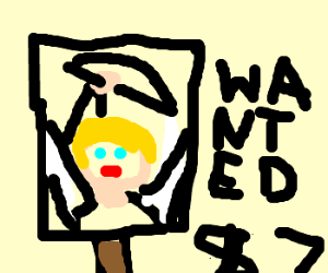 Wanted: Blond Angel with Bow- $7 reward