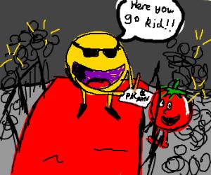 Tomato is big fan of Pac-Man