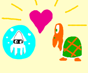 Koopah and squid fall in love