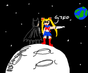 Sailor Moon tells Batman to GTFO da moon