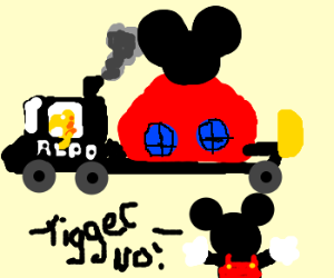 Tigger repo's Mickey Mouse's house