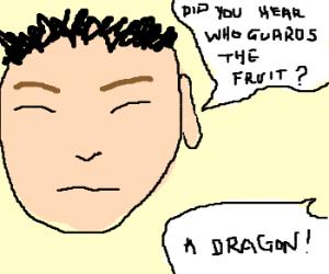 heard dragon guarding fruit