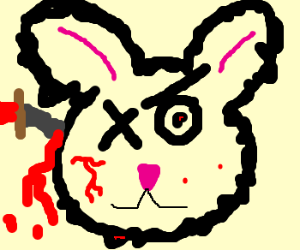 ragged evil bunny