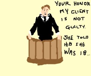 Lawyer pleading