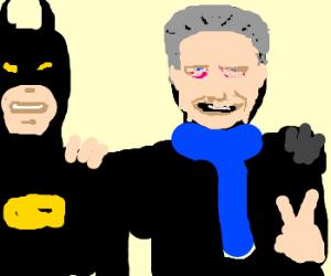 Batman and Christopher Walken team up