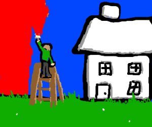 How NOT to paint a house