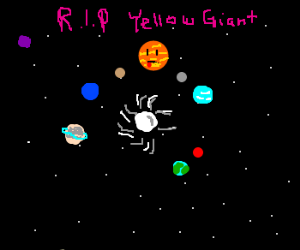 Planets mourn over the Suns death