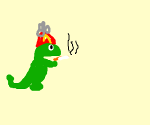 Junior Dinosaur on a smoke break