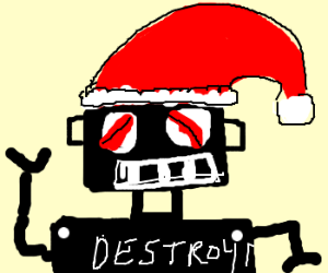 evil santarobot