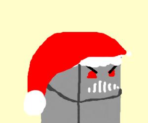 Christmas robot is displeased.