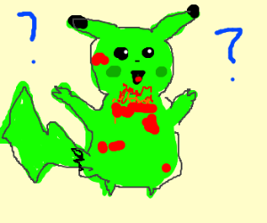 Pikachu is a zombie!!! WHYY