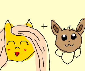 Fluttershy and eevee