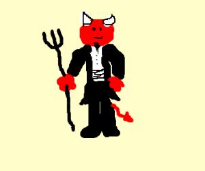 Satan in a tux